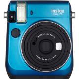 Cámara fujifilm instax mini 70 azul + carga 10 fotos gratis