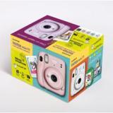 Kit cámara fujifilm instax mini 11 rosa + carga 20 fotos+ postales
