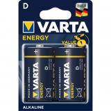 Blister pilas varta alcalinas energy lr20 d / 2 pilas
