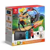 Consola nintendo switch neon + aro ring fit + ring fit