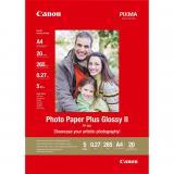 Papel fotografico canon 2311b019 brillo ii plus pp-201 a4 / 20 hojas