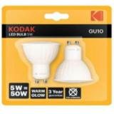 Bombilla led kodak dicroica gu10 / 400lm / calido 3000k / 5w-50w / no regulable blister 2ud