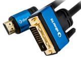Cable silver ht high end HDMI - dvi / macho-macho / 3m / negro