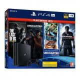 Consola sony ps4 pro 1tb + the last of us + uncharted legacy + uncharted collection + uncharted 4