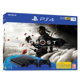 Consola sony ps4 1tb + ghost of tsushima + 2 controller sony dualshock 4 v2