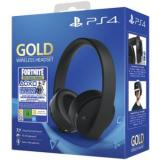 Auriculares sony ps4 gold wireless headset + voucher