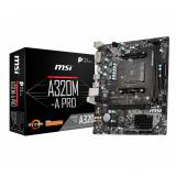 Placa base msi AMD a320m-a pro socket am4 DDR4 x2 2666mhz max 32GB dvi-d HDMI  mATX