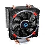 Ventilador disipador coolbox deep cyclone gaming. para intel y AMD led rojo