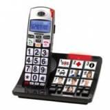 Teléfono inalambrico dect daewoo dtd-7500 / manos libres / pantalla LCD / teclas grandes / negro