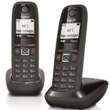 Teléfono fijo inalambrico gigaset as405 duo negro 100 numeros agenda / 20 tonos