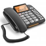 Teléfono fijo gigaset dl580 negro 99 numeros agenda / 10 tonos