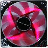 Ventilador auxiliar Phoenix phcoolerfan12led 12cm / 3 a 4 pines / 1200rpm / silencioso / aspas con luces led  ...