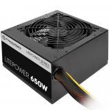 Fuente de alimentación <em>gaming</em> thermaltake litepower ATX 650w negro