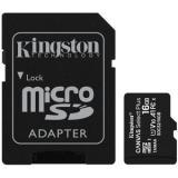 Tarjeta memoria micro secure digital sd hc 16GB kingston canvas select plus clase 10 uhs-1 + adaptador sd