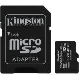 Tarjeta memoria micro secure digital sd hc 32GB kingston canvas select plus clase 10 uhs-1 + adaptador sd