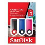 Memoria USB 2.0 sandisk 16GB cruzer dial flash drive