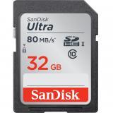Tarjeta memoria secure digital sd ultra uhs-i 32GB sandisk clase 10 sdhc 80mb / s