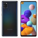 "Teléfono movil smartphone Samsung galaxy a21s black 6.5"" / 64GB rom / 4GB ram / 48+8+2+2 mpx - 13  ..."