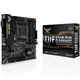 Placa base asus AMD tuf b450m-plus gaming socket am4 DDR4x4  max 128GB  2666mhz dvi-d HDMI mATX
