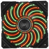 Ventilador <em>gaming</em> enermax df vegas duo 12cm pwm luces led rojo verde modding anti polvo