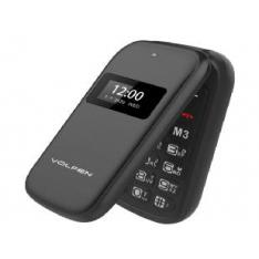 "TELEFONO VOLFEN FLIP NEGRO DUAL DOBLE PANTALLA /DUAL SIM/PANTALLA 2.4"""
