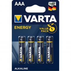 BLISTER PILAS VARTA ALCALINAS ENERGY LR-03 AAA  4 PILAS