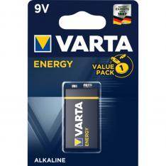 BLISTER PILAS VARTA ALCALINA ENERGY 6LR61 9V
