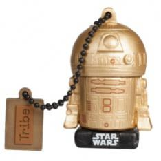 MEMORIA USB 2.0 TRIBE 16 GB TRJ R2D2 GOLD