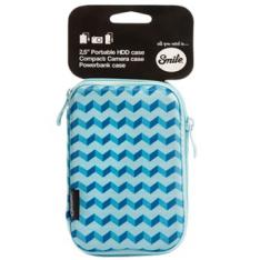 "FUNDA TRANSPORTE SMILE PARA DISCO HDD 2.5"" BLUE GEOMETRIC"