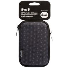 "FUNDA TRANSPORTE SMILE PARA DISCO HDD 2.5"" BLACK GEOMETRIC"