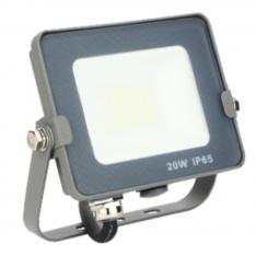Foco proyector LED Silver Electronics Forge IPS 65 20W/ 5700K luz fria/ 1.600lm color Gris