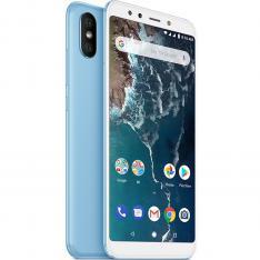 "TELEFONO MOVIL SMARTPHONE XIAOMI MI A2 AZUL 5.99""/ 64GB ROM/ 4GB RAM/ DUAL CAMERA 12+20 Mpx/ CAMARA DELANTERA 20 Mpx/ 18:9 / HUELLA/ 3000 mAh/ Android One"