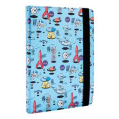FUNDA UNIVERSAL ESTAMPADA SILVER HT PARA TABLET 9-10.1 SPACE BLUE METAL