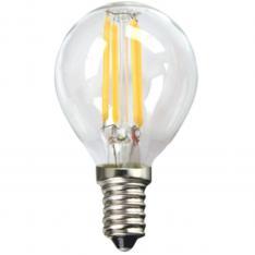BOMBILLA LED SILVER ELECTRONIC FILAMENTO TRANSPARENTE ESFERICA 4W=80W/ E14/ 3000K LUZ CALIDA/ A++