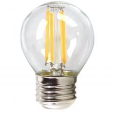 BOMBILLA LED SILVER ELECTRONIC FILAMENTO TRANSPARENTE ESFERICA 4W=60W/ E27/ 3000K LUZ CALIDA/ A++