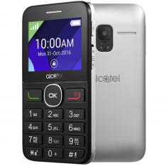 "TELEFONO MOVIL ALCATEL 2008 PLATA / 2.4"" / 16MB ROM / 8MB RAM / SINGLE SIM"
