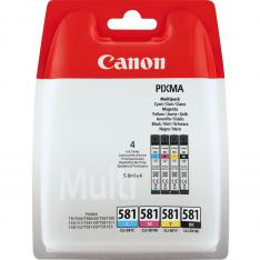MULTIPACK TINTA CANON CLI 581 PIXMA TR7550 / TS6150 / TS6151 / TS8150 / TS8151 / TS8152 / TS9150 / TS9155