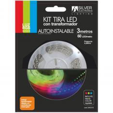 KIT TIRA LED SILVER SANZ 240310 3M/ 7.4W/M/ RGB