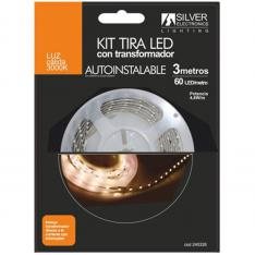 KIT TIRA LED SILVER SANZ 240328 3M/ 4.8W/M/ 3000K