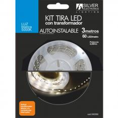 KIT TIRA LED SILVER SANZ 240350 3M/ 4.8W/M/ 5000K