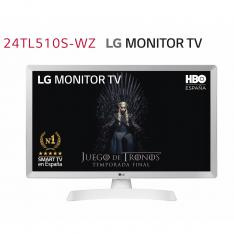 "MONITOR TV LED LG 23.6"" 24TL510S-WZ 1366 X 768 HDMI USB DVB-T2 WIFI SMART TV BLANCO"
