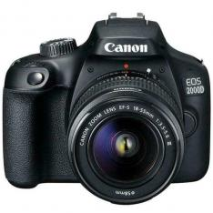 CAMARA DIGITAL REFLEX CANON EOS 2000D + 18-55 / CMOS/ 24.1MP/ DIGIC 4+/ FULL HD/ 9 PUNTOS REFERENCIA/ WIFI/ NFC