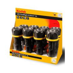 EXPOSITOR 8 LINTERNAS KODAK LED FLASHLIGHT ROBUST 36