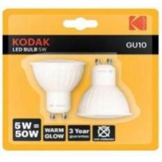 BOMBILLA LED KODAK DICROICA GU10/ 400LM/ CALIDO 3000K/ 5W-50W/ NO REGULABLE BLISTER 2UD