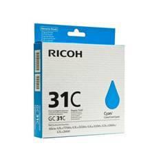 CARTUCHO GEL RICOH 405689 CIAN GC-31C/ GX e3300N/ GX 3350N / GX e2600 / GXe5550N / Gxe 7700N/ CIAN