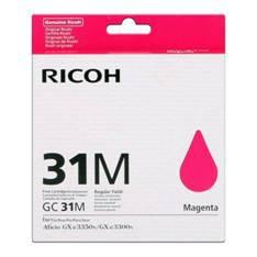 CARTUCHO GEL RICOH 405690 MAGENTA GC-31M/ GX e3300N/ GX 3350N / GX e2600 / GXe5550N / Gxe 7700N/ MAGENTA
