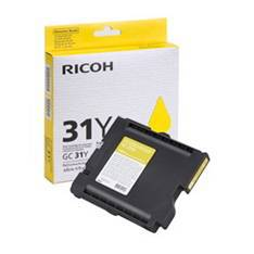 CARTUCHO GEL RICOH 405691 AMARILLO GC-31Y/ GX e3300N/ GX 3350N / GX e2600 / GXe5550N / Gxe 7700N/ AMARILLO