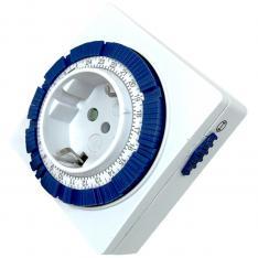 PROGRAMADOR SILVER ELECTRONIC 49402 ANALÓGICO/ 24 HORAS/ 3600W/ 250V/ 16A/ 50HZ/ COMPACTO