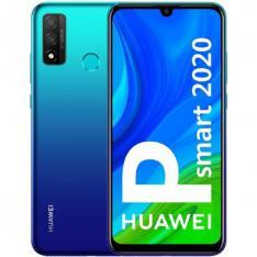 TELEFONO MOVIL SMARTPHONE HUAWEI P SMART 2020 AURORA BLUE  6.21  128GB ROM  4GB RAM  13+2MPX - 8MPX  OCTA CORE  3400 MAH  HUELLA