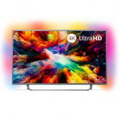 "TV PHILIPS 65"" LED 4K UHD/ 65PUS7303 (2018)/ HDR PLUS / AMBILIGHT X3/ QUAD CORE/ ULTRAPLANO/ ANDROID TV/ 4 HDMI/ 2 USB/ DVB-T/T2/T2-HD/C/S/S2/ SATELITE/ WIFI/ PROCESADOR P5"